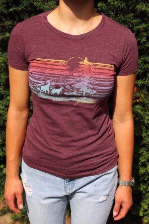 Aeropostale Camiseta lila grisáceo