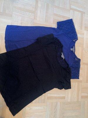 Primark T-Shirt black-blue