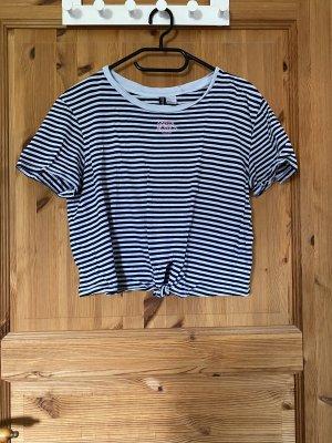 H&M Divided T-Shirt white-dark blue