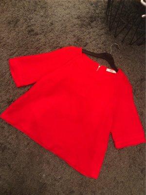 Mango Oversized shirt rood