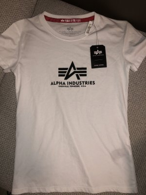 Alpha Industries Camiseta blanco-negro