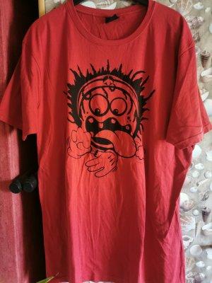Fishbone T-shirt nero-rosso
