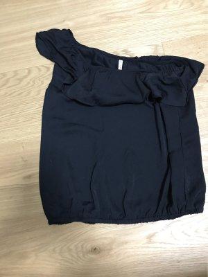 FB Sister Camisa de un solo hombro negro