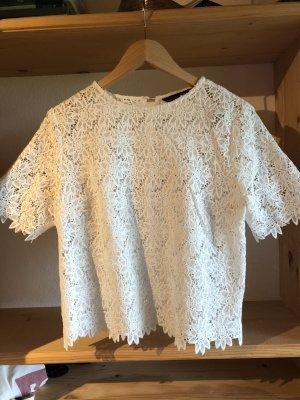 Zara Woman Crochet Shirt white