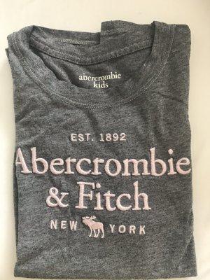 Abercrombie & Fitch Shirt basique gris-rose clair