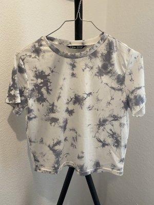 SheIn Batik shirt wit-grijs