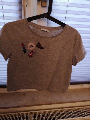 Only T-shirt court gris