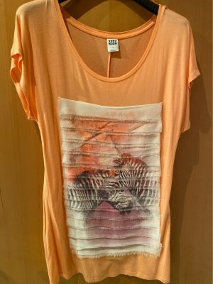 Vero Moda Prążkowana koszulka Wielokolorowy