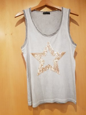 Decay Women One Shoulder Shirt gold-colored-light grey