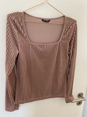 Camicia cropped rosa antico