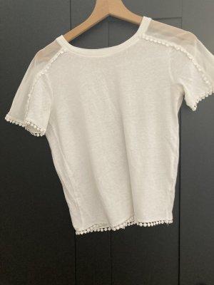Koszula o skróconym kroju biały