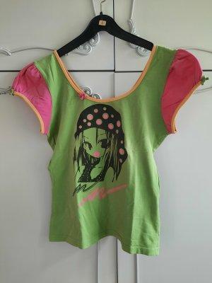 Cross Koszulka z nadrukiem różowy-trawiasty