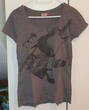 Only T-shirt szaro-brązowy-czarny