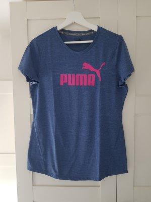 Puma T-shirt różowy-stalowy niebieski