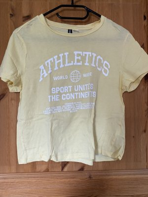H&M Divided T-Shirt pale yellow-white