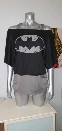Camisa deportiva negro-gris claro tejido mezclado
