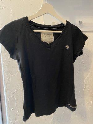 Abercrombie & Fitch T-shirt bleu foncé-noir
