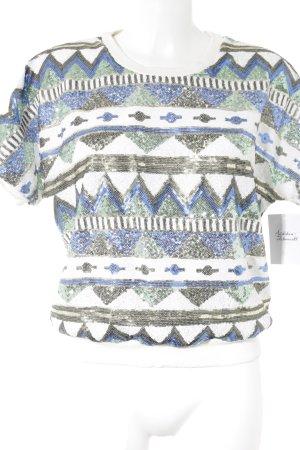 T-Shirt abstraktes Muster Glitzer-Optik