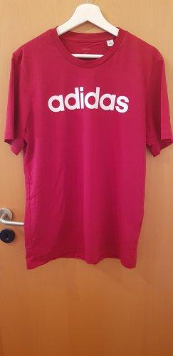 Adidas T-shirt rosso scuro-rosso mattone