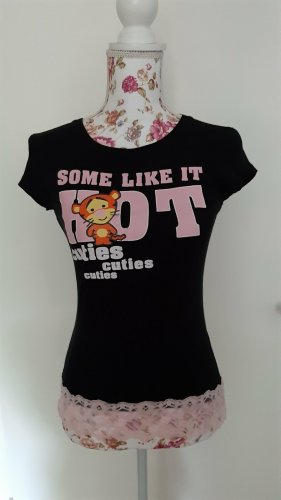 Disney T-shirt nero-rosa chiaro