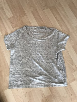 American Vintage T-Shirt silver-colored linen