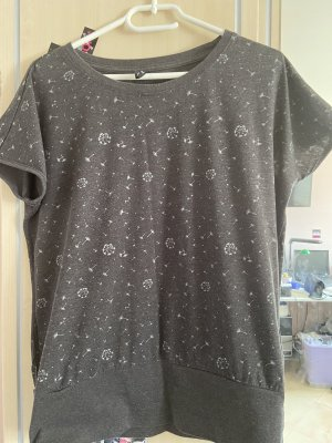 Laura Torelli T-Shirt anthracite-white
