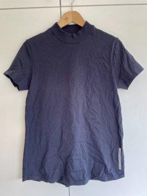 Alpha Tauri T-shirt donkerblauw Katoen