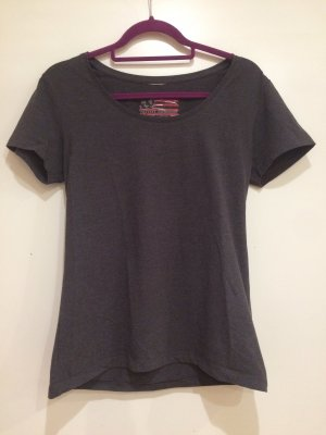 T-Shirt basic dunkelgrau, Gr. 38, Outfit Fashion