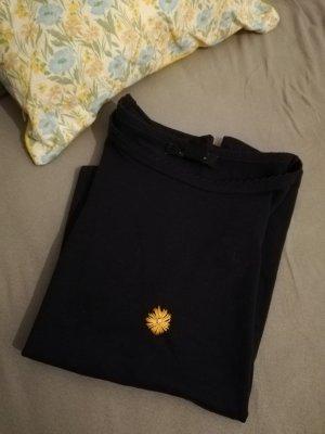 T-shirt Bestickt Blume Vintage