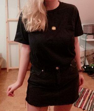 T-shirt Bestickt Vintage Blume