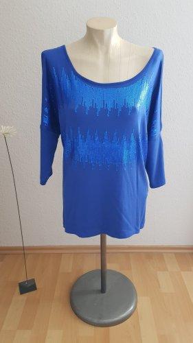 T-Shirt blau mit Pailletten