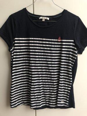 T Shirt blau mit Streifen