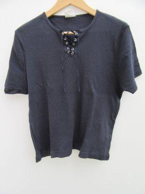 T-Shirt blau rip Vintage Retro Gr. L