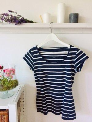 T-Shirt blau-weiss gestreift