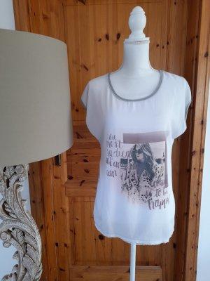 T-Shirt Bluse Soyaconcept Gr. M Spitzensaum