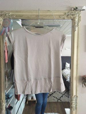 T-Shirt Bluse von Mango in Creme beige gold Größe XS