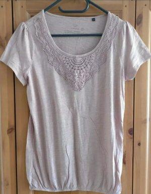 T-Shirt / Bluse von Opus, NEU, altrosa, lila, Gr. M, Baumwollspitze