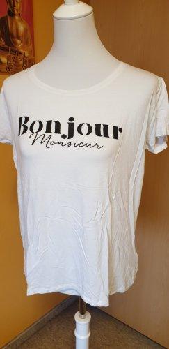 """T-Shirt """"Bonjour Monsieur"""" von Amisu, Größe M (38/40)"""