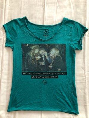 Boom bap Shirt met print cadet blauw