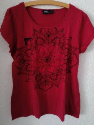 bpc bonprix collection T-shirt bordeaux-carminio Cotone