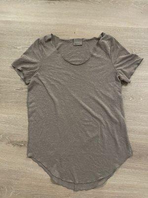 T-Shirt braun/grau meliert