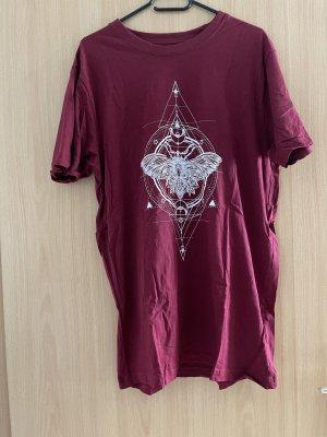 T-Shirt burgunderrot