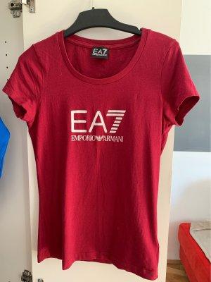 Armani Camiseta rojo oscuro-blanco