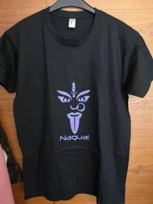 Oversized Shirt black-blue violet