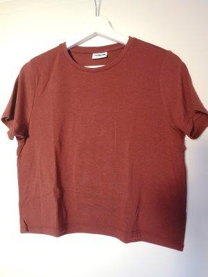Noisy May T-shirt ruggine-marrone-rosso