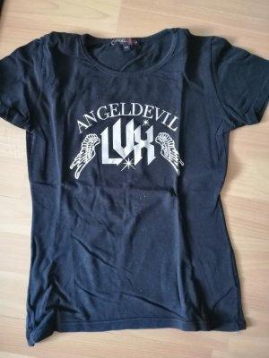 Angel Devil T-shirt zwart