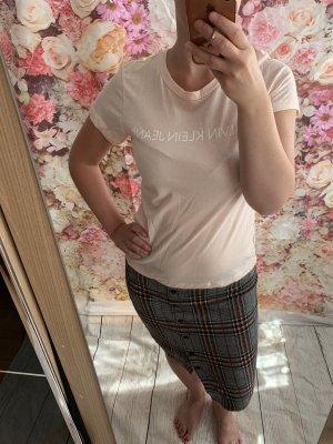 Calvin Klein T-shirt różany Bawełna
