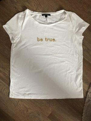 T-Shirt Comma weiß