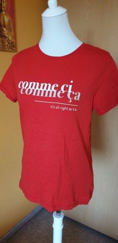 "T-Shirt ""Comme ci, comme ca - it's all right as it is"" von Amisu, Größe M (38)"