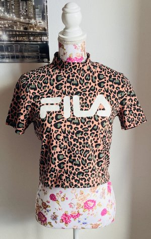 T-Shirt Crop leo rosa|Grün -Fila-